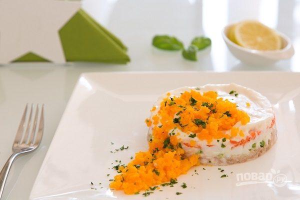 """Салат """"Мимоза"""" с консервированным тунцом"""