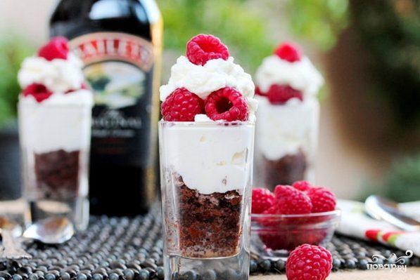 Десерт слоями в стакане