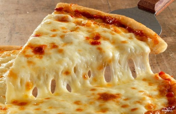 Пицца с плавленым сыром