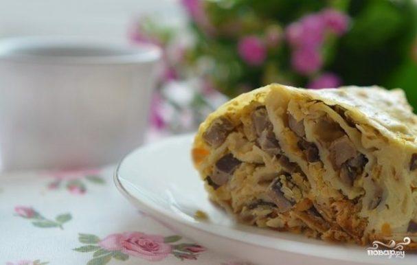 Пирог из лаваша с кефиром