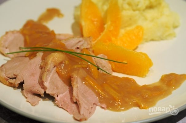 Утка по-пекински с апельсинами