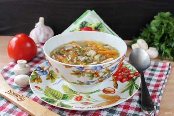 Суп со стеклянной лапшой