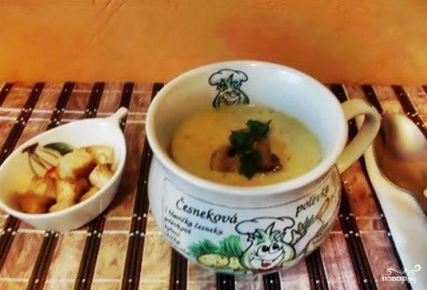 Суп из кабачков с грибами