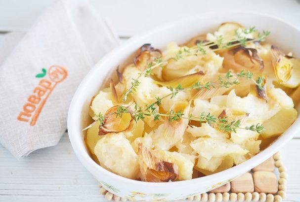 Запеченное филе тилапии на картофельной подушке