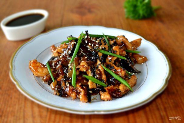 Курица по-китайски с баклажанами