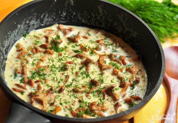 Сливочно-чесночный соус с грибами