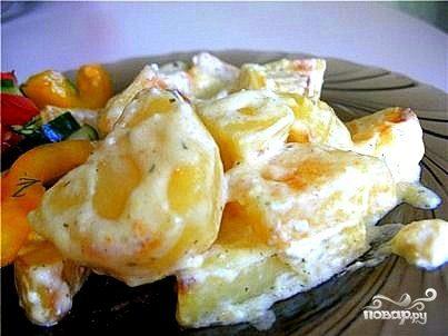 Картофель в сливках в мультиварке