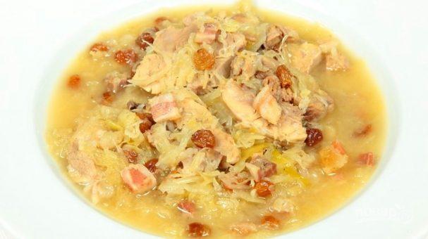 Суп с квашеной капустой