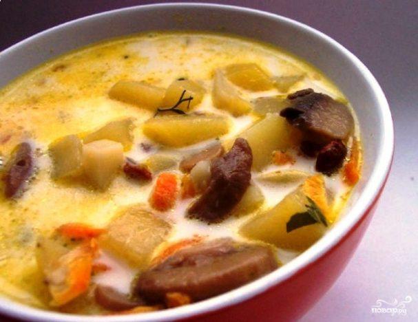 Суп из свежих вешенок