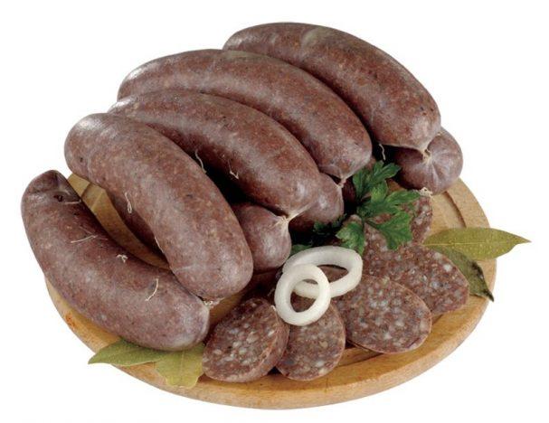Кровяная колбаса с гречкой