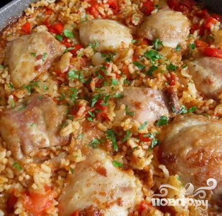 Цыпленок с рисом в горшочке