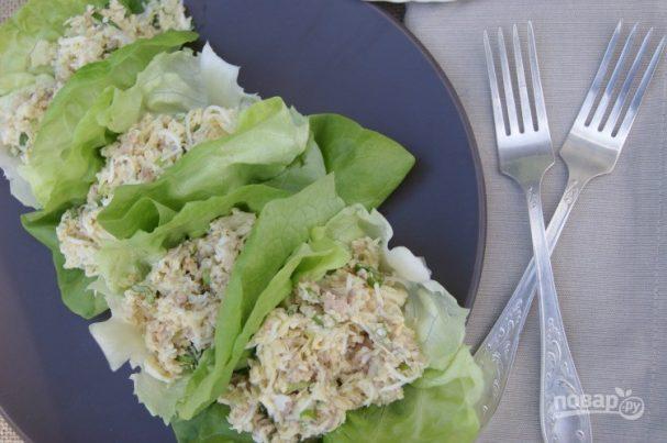 салат с треской консервированной рецепт