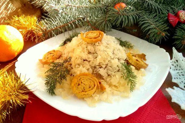 "Новогодний салат ""Кукареку"""