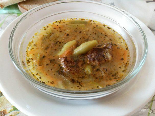 Овощной суп с льняными клёцками
