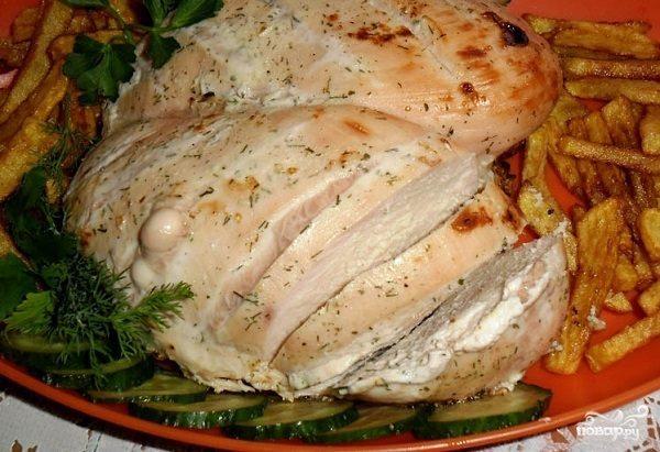 Куриная грудка запеченная в духовке с кефиром — pic 7