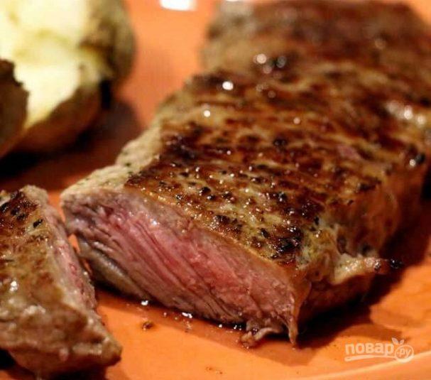 Стейк из говядины (очень вкусный)