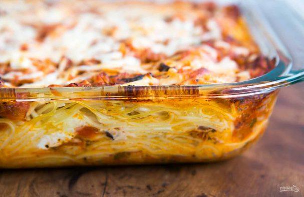 Запеченные спагетти