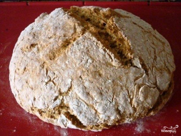 Вегетарианский хлеб без дрожжей