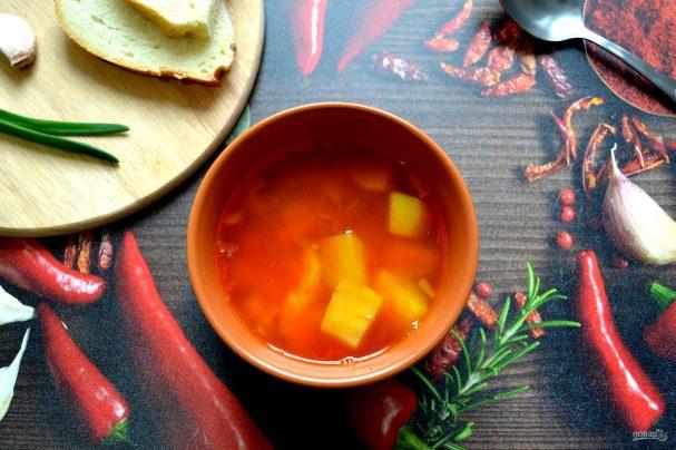 Томатный суп с булгуром