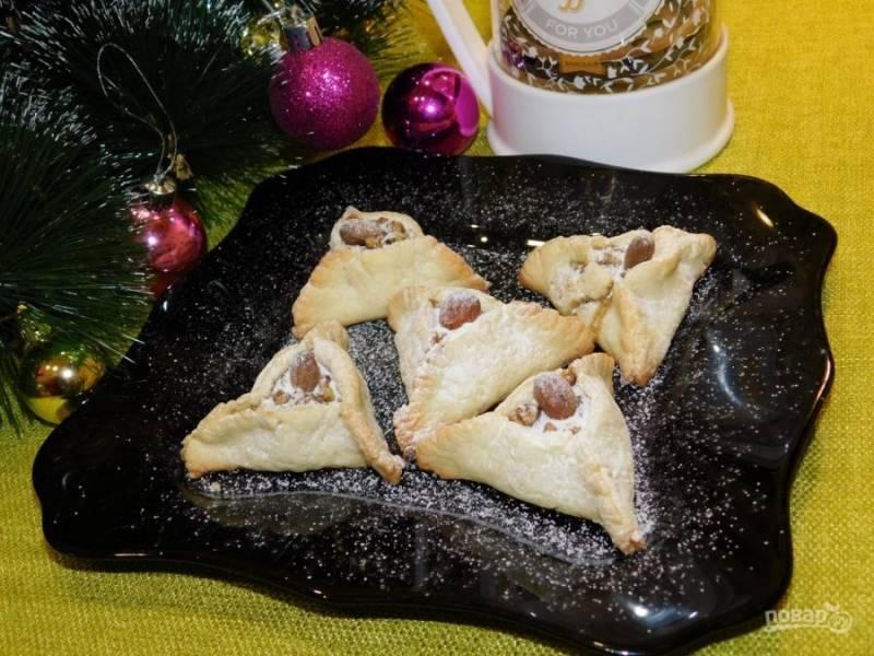 Готовое печенье посыпьте сахарной пудрой и угощайтесь. Приятного чаепития!