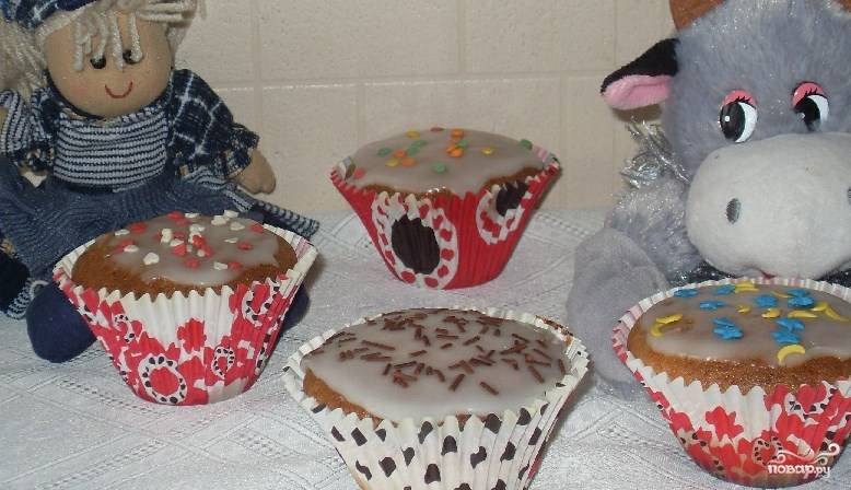Бисквитные кексики
