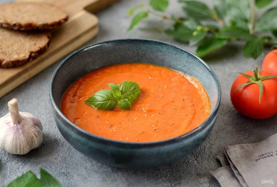 Томатный суп-пюре с сельдереем