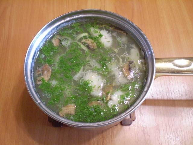 9. Готовый суп заправляем зеленью. Приятного!