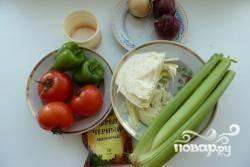 Тщательно моем овощи.