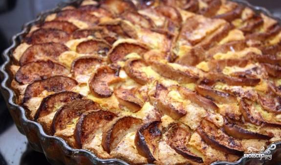 6. Пирог выпекайте при 180 градусах. Время в духовк — приблизительно 40 минут. Готовый пирог необходимо остудить. Теперь, когда вы знаете, как приготовить выпечку на кукурузной муке, попробуйте испечь пирог самостоятельно. Приятного аппетита!