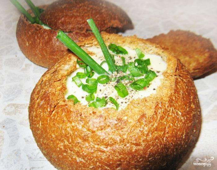 Итальянский суп в хлебе
