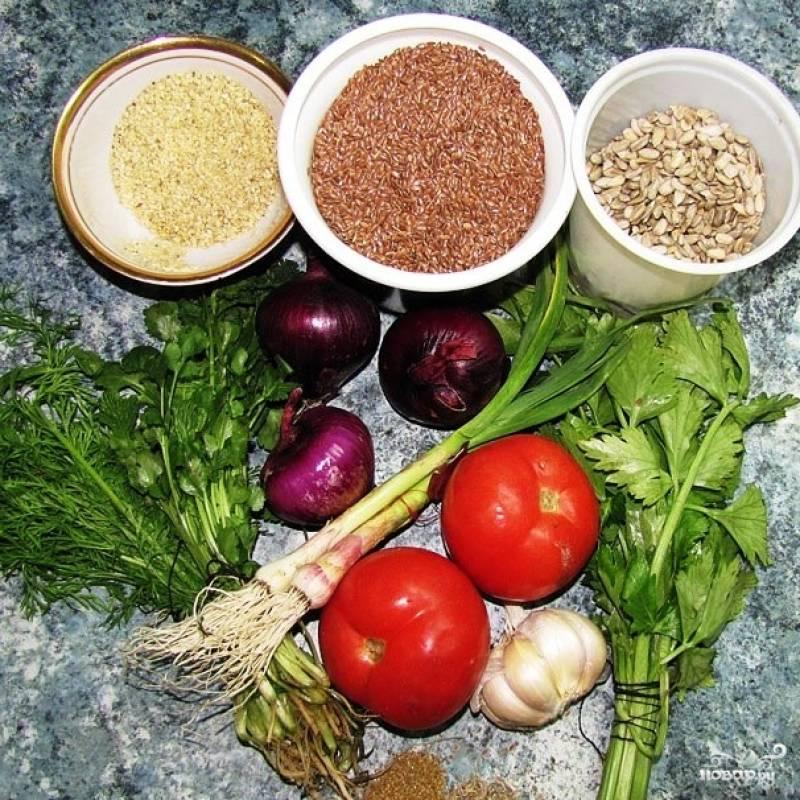 Среди ингредиентов - овощи да семена. Семена продаются на рынках и в супермаркетах, купить их - не проблема.