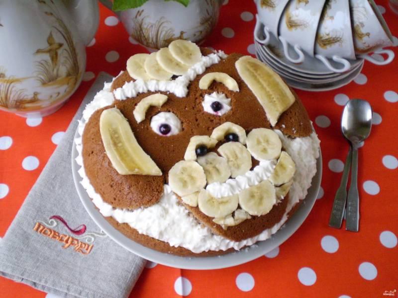 Банановый торт Обезьянка