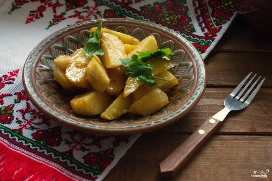 Картофель по-деревенски в рукаве