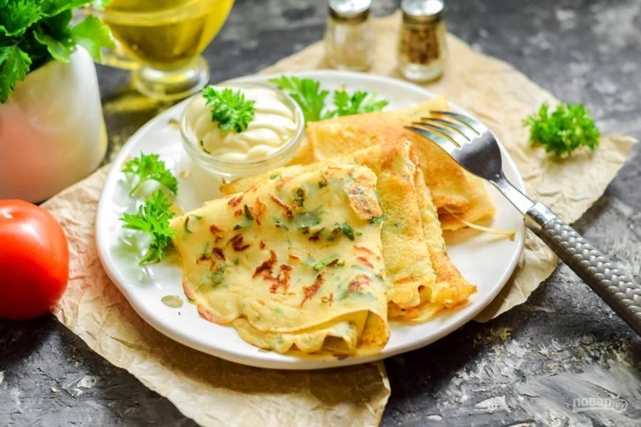 Рисовые блины с сыром