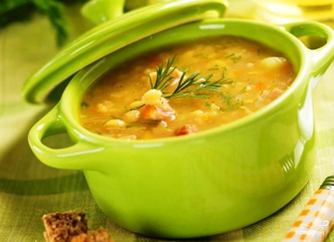 Вкусный гороховый суп без мяса