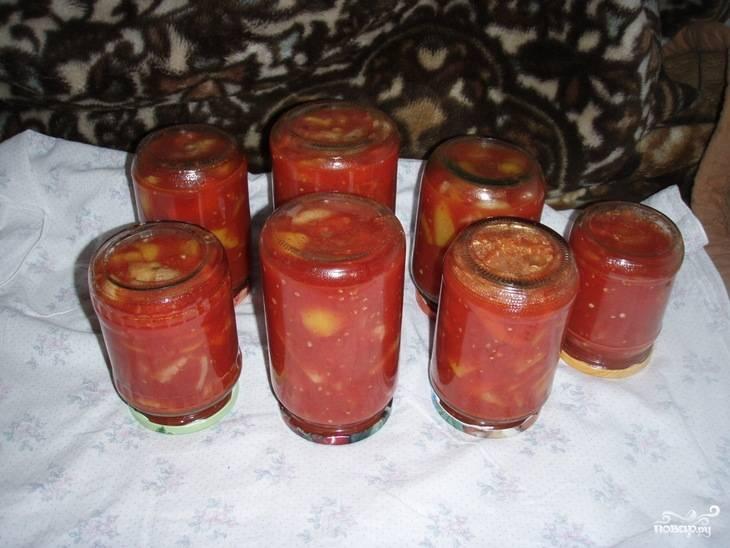 Лечо из помидоров и перца