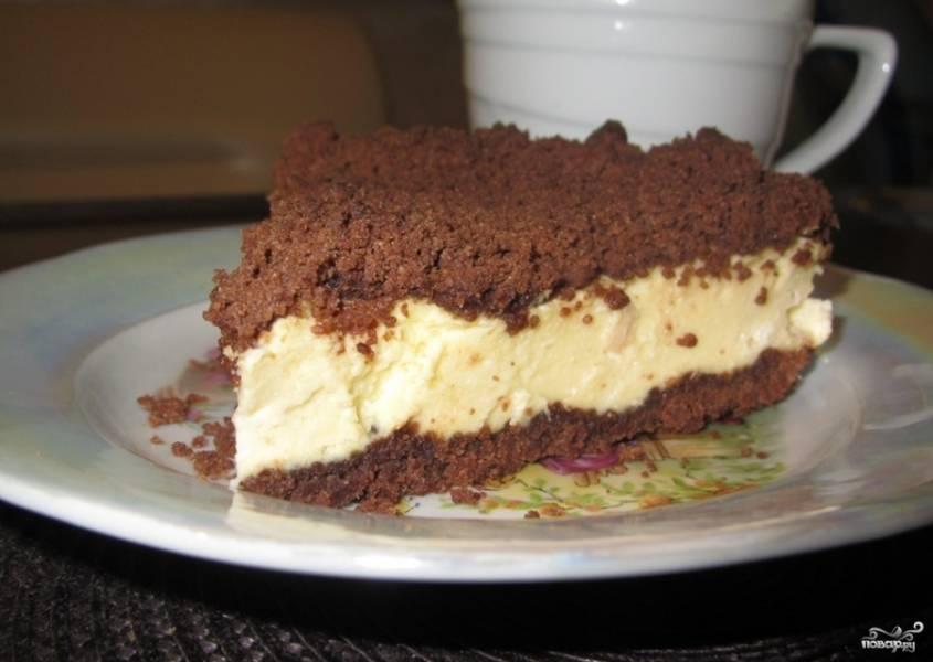 Готовый десерт остудите, а затем отправьте в холодильник. Приятного чаепития!