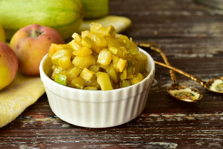 Варенье из кабачков и яблок