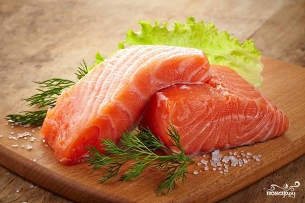 4. Вот такая получится красивая слабосоленая рыба в итоге!