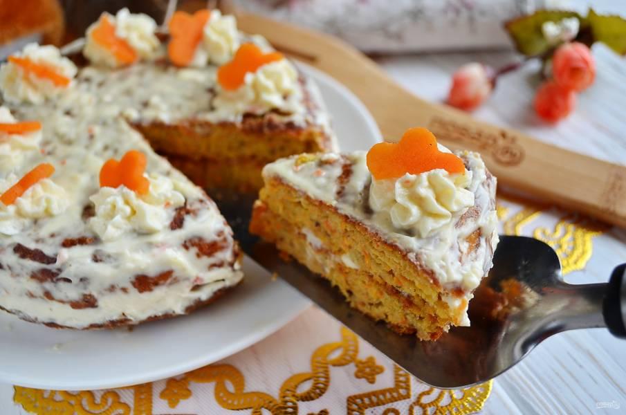 """Морковный торт """"Рыжий дружок"""""""