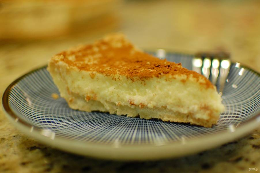 Открытый пирог с заварным кремом