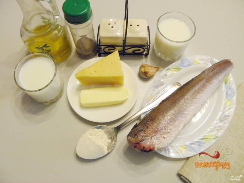 Подготовьте продукты. Если рыба заморожена, то ее нужно разморозить при комнатной температуре, я это сделала заранее.