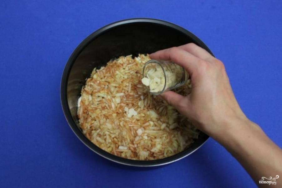 Потом опять слой из сухой смеси, следом выложите оставшиеся тертые яблоки, а также лепестки миндаля.