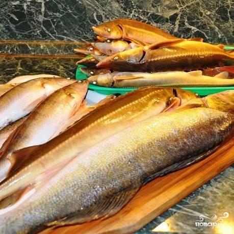 Итак, поехали. Первым делом нужно, естественно, помыть и выпотрошить нашу рыбку, очистить от плавников и прочих ненужных деталей. Не пренебрегайте этим пунктом - чем качественнее обработаете, тем блюдо получится вкуснее.