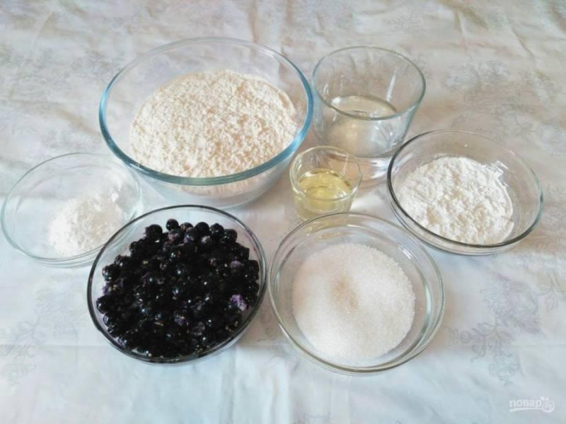 Подготовьте перечисленные ингредиенты в необходимых количествах. Ягоды заранее размораживать не нужно.