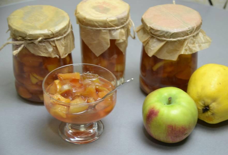 Варенье из айвы с яблоками
