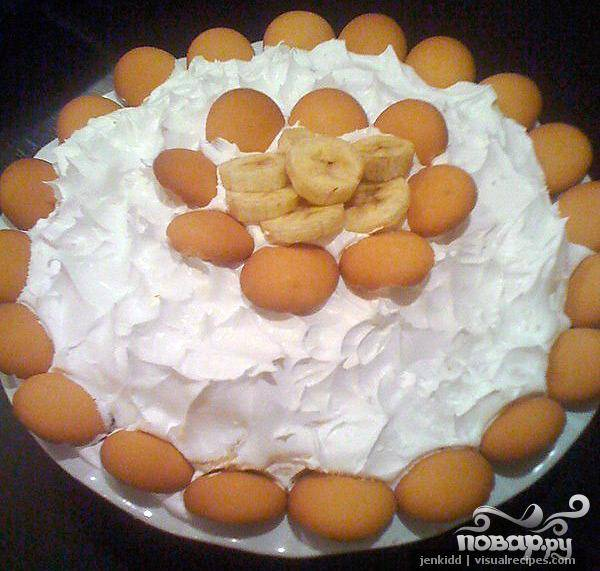 Пирог-пудинг с бананом