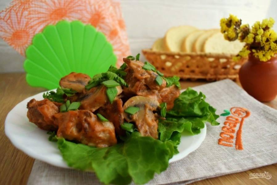 Подавайте с гарниром и зеленью. Приятного аппетита!