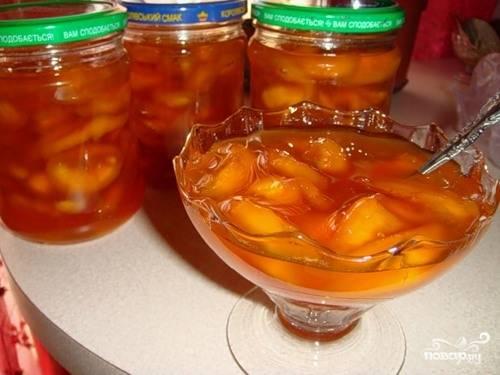 Варенье из персиков в сиропе