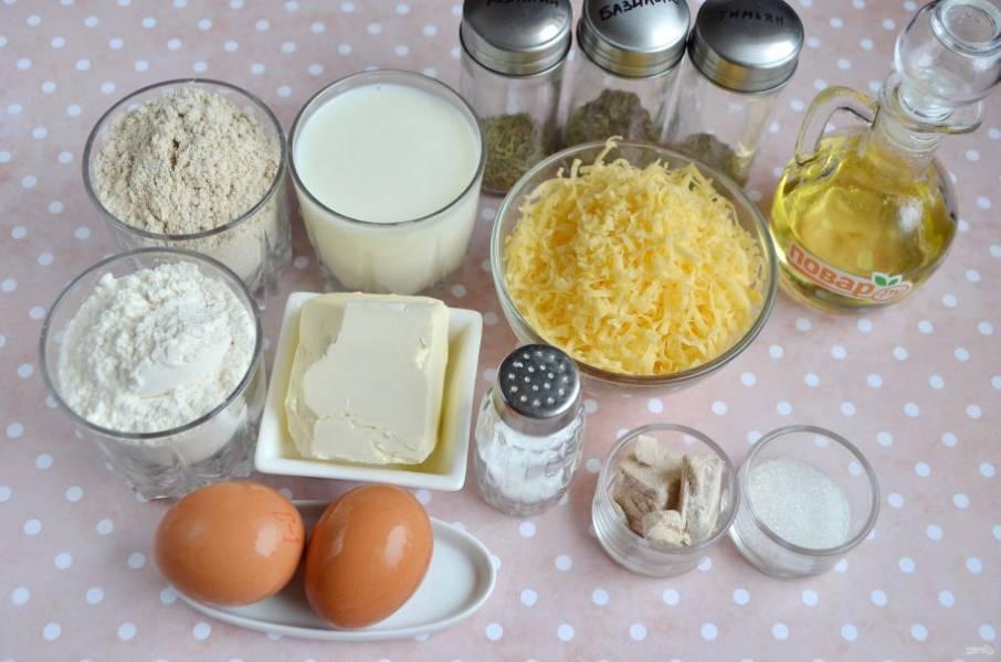 1. Подготовьте продукты согласно списку. Приступим!